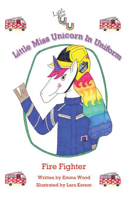 Little Miss Unicorn in Uniform Firefighter